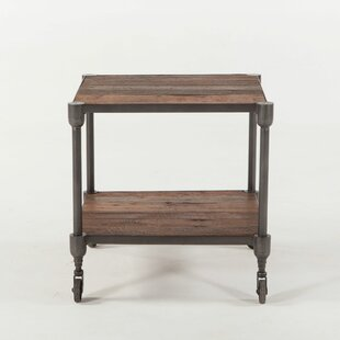 Chute Reclaimed Teak Wheeled End Table by Gracie Oaks
