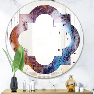 Quatrefoil Geode 3 Eclectic Frameless Wall Mirror by East Urban Home