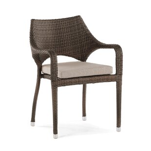 Clare Stacking Patio Dining Chair with Cushion