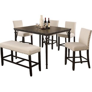 Haysi Counter Height 6 Piece Pub Table Set