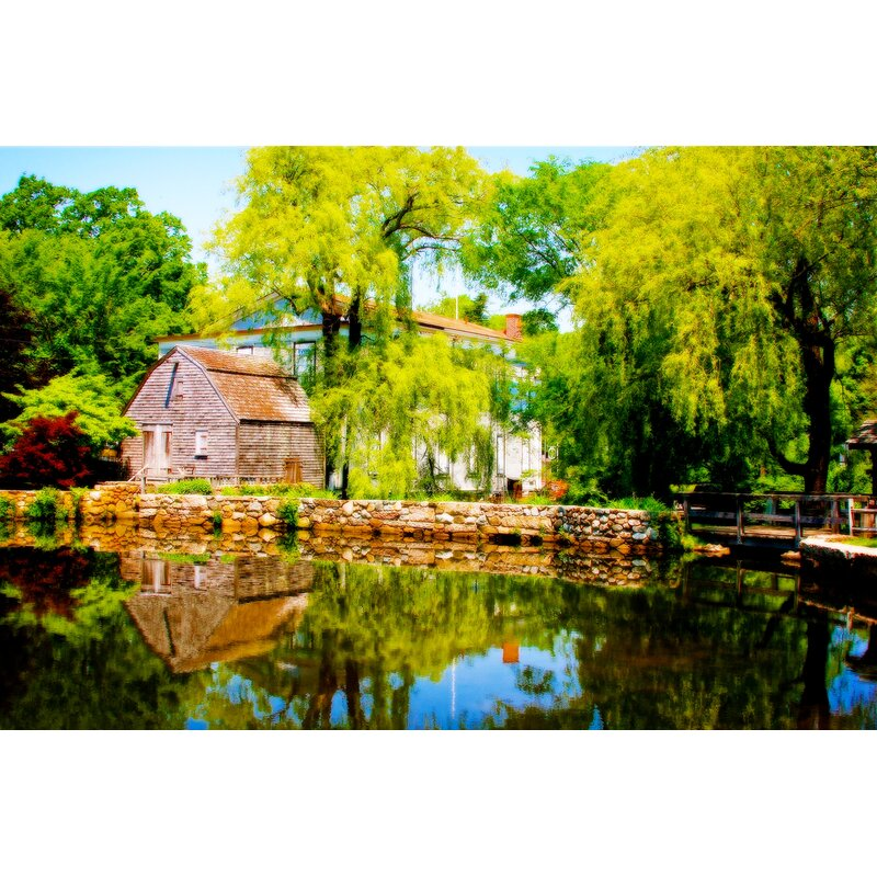 Buy Art For Less Old Grist Mill By Jobe Waters Photographic Print On Wrapped Canvas Wayfair