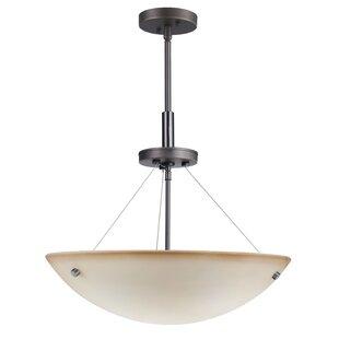 Woodbridge Lighting Dish 3-Light Bowl Pendant