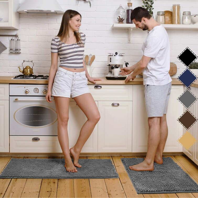 Prep Savour Chenille Microfiber Non Slip Soft Kitchen Mat Set Wayfair