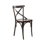 Aggi Solid Wood Cross Back Side Chair (Set of 2) by Gracie Oaks