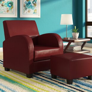 Chesterhill Armchair and Ottoman by Red Barrel Studio