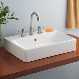 Purchase Nuo Ceramic Rectangular Vessel Bathroom Sink with Overflow ByCheviot Products