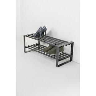 Rumo 6 Pair Stackable Shoe Rack By Rebrilliant