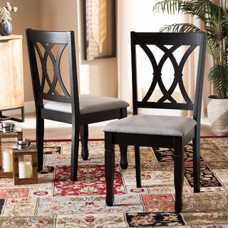 Ared Upholstered Solid Wood Cross Back Parsons Chair (Set of 2) by Winston Porter SKU:BB763797 Price Compare
