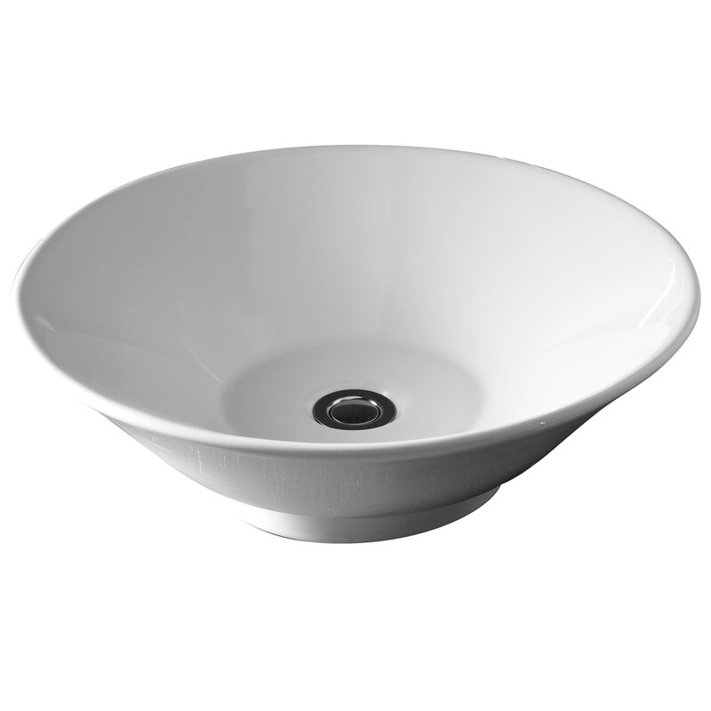 Celerity Ceramic Circular Vessel Bathroom Sink
