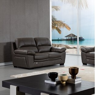 Uecker Leather Loveseat by Latitude Run Best