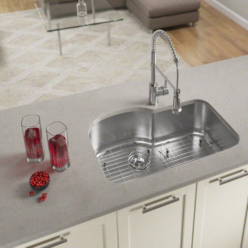 stainless steel 31   x 21   undermount kitchen sink with additional accessories mrdirect stainless steel 31   x 21   undermount kitchen sink with      rh   wayfair com