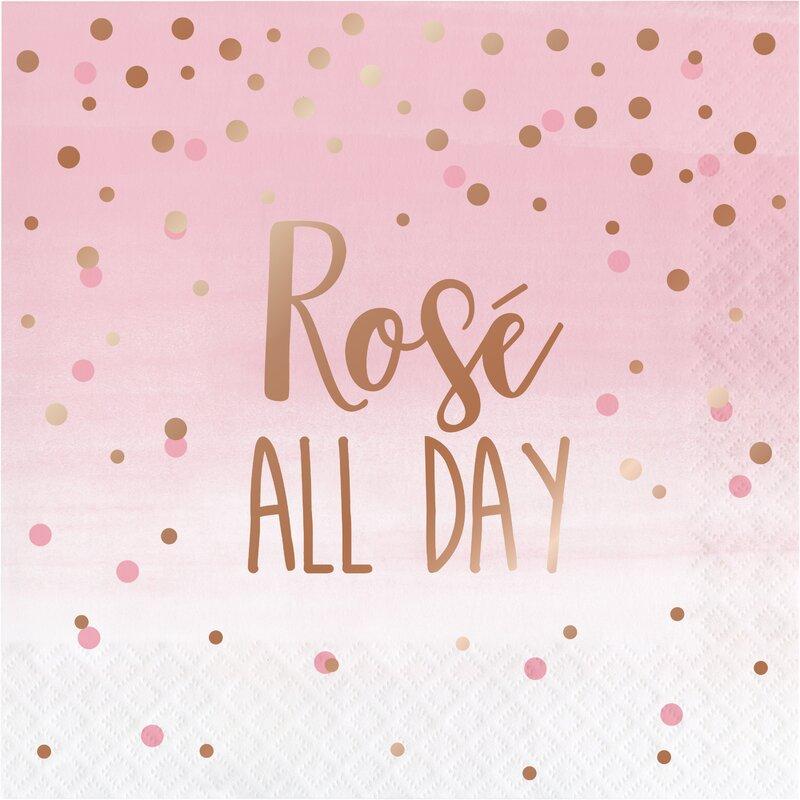 The Party Aisle Rosé All Day 6 5 Paper Disposable Napkins Wayfair