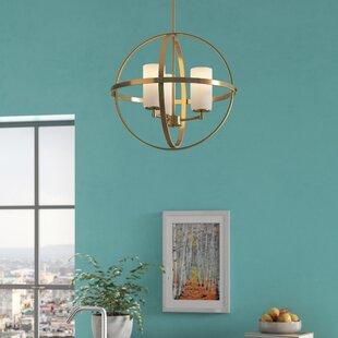 Raine 3-Light Globe Chandelier by Wade Logan
