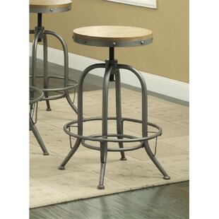 Little Italy Adjustable Height Swivel Bar Stool (Set of 2) 17 Stories
