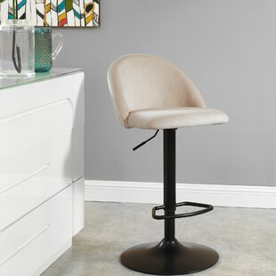 Briggs Adjustable Height Swivel Bar Stool by Mercer41 Discountt