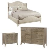 Avondale Brushed Tweed Upholstered Standard Configurable Bedroom Set by Caracole Compositions