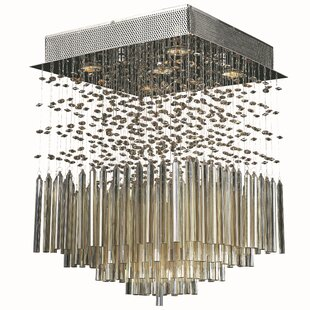 Orren Ellis KeAndre 5-Light Semi-Flush Mount
