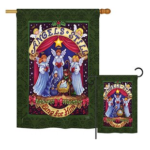 Sing For Him Winter Christmas Impressions 2-Sided Polyester 2'3 X 3'3 Ft. Flag Set by Breeze Decor