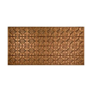 Traditional 1 4 ft. x 2 ft. Glue-Up Ceiling Tile in Antique Bronze