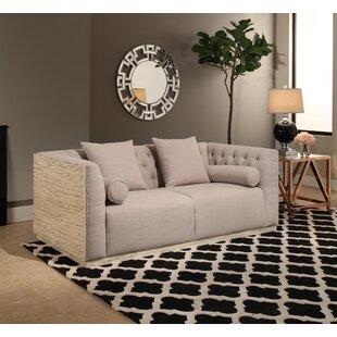 Chauntel Fabric Wood Chesterfield Sofa