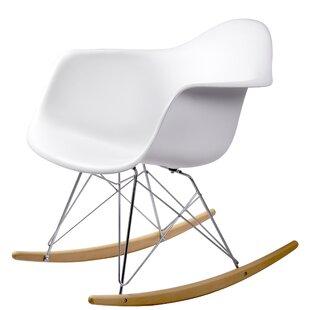 Brayden Studio Breana White Rocking Chair (Set of 2)