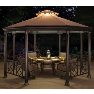 Sunjoy Waverly 13.5 Ft. W x 12 Ft. D Metal Patio Gazebo