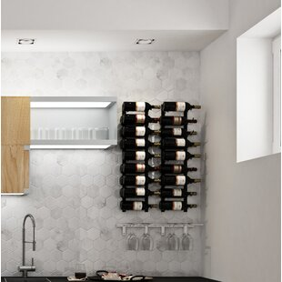 Wall Series Contemporary Wet Bar 36 Bottle Wall Mounted Wine Rack