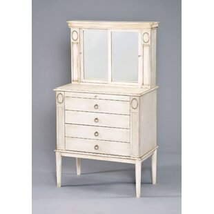 Bellatrix Free Standing Jewelry Armoire with Mirror by One Allium Way