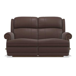 Kirkwood Reclina-Way� Full Leather Reclining Loveseat by La-Z-Boy