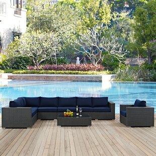 Tripp 7 Piece Patio Sunbrella Sectional Set with Cushions by Brayden Studio