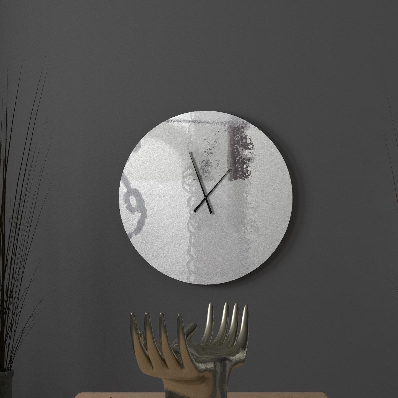 Latitude Run Kempt Calm Abstract Metal Wall Clock Wayfair