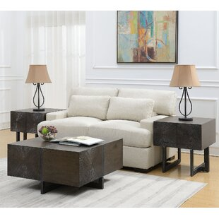 Brayden Studio Mims 3 Piece Coffee Table Set