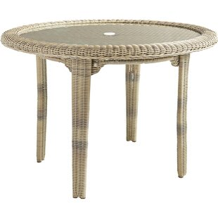 Enrico Glass Dining Table by Highland Dunes