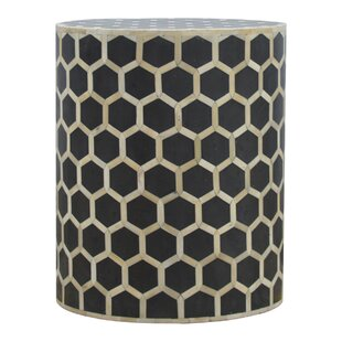 Reviews Zacharias End Table with Mother of Pearl Inlay by Brayden Studio