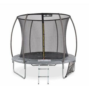 Discount Leela 8' Backyard Above Ground Trampoline With Safety Enclosure