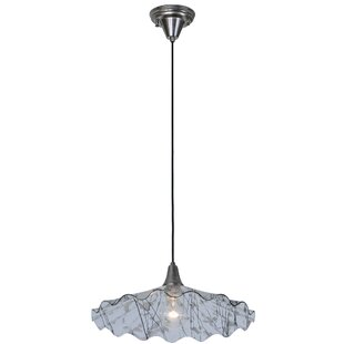 Metro Fusion Galatia Scalloped Branches 1-Light Cone Pendant by Meyda Tiffany