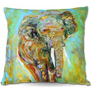 Bloomsbury Market Ashcom Couch Wild Elephant Throw Pillow