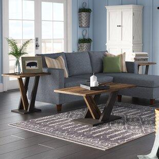 Gracie Oaks Uriarte 3 Piece Coffee Table Set