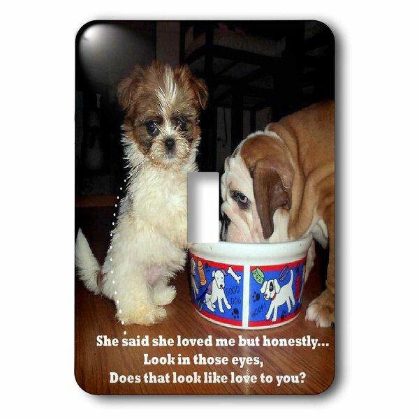 3drose Bulldog And Shih Tzu Puppy 1 Gang Toggle Light Switch Wall Plate Wayfair