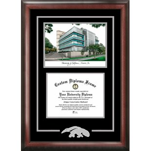 NCAA UC Irvine Anteaters Spirit Graduate Diploma with Campus Images Lithograph Frame By Campus Images