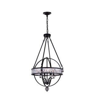 CWI Lighting 4-Light Globe Chandelier