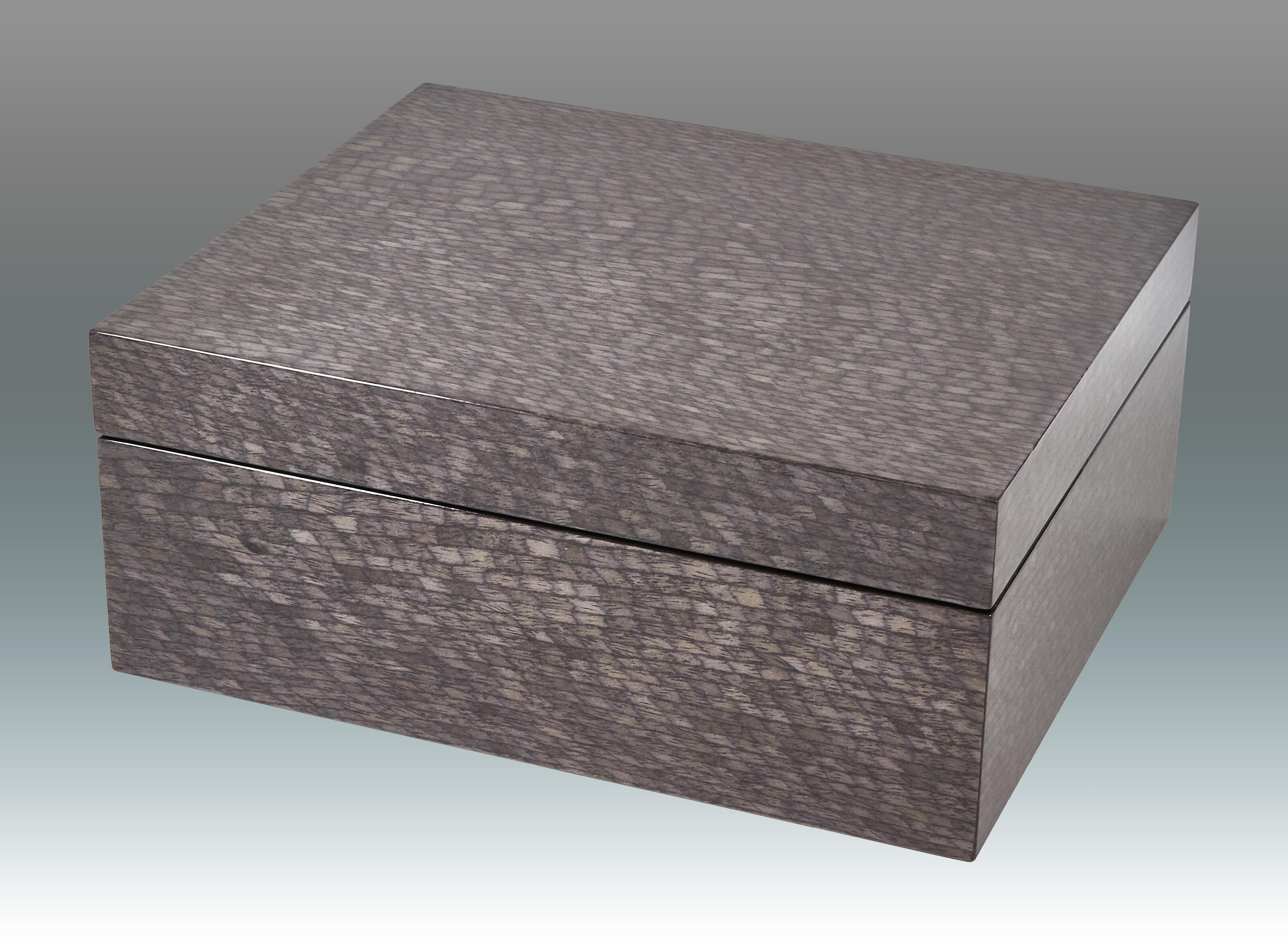 Tizo Fishscale Empty Wood Decorative Box Wayfair