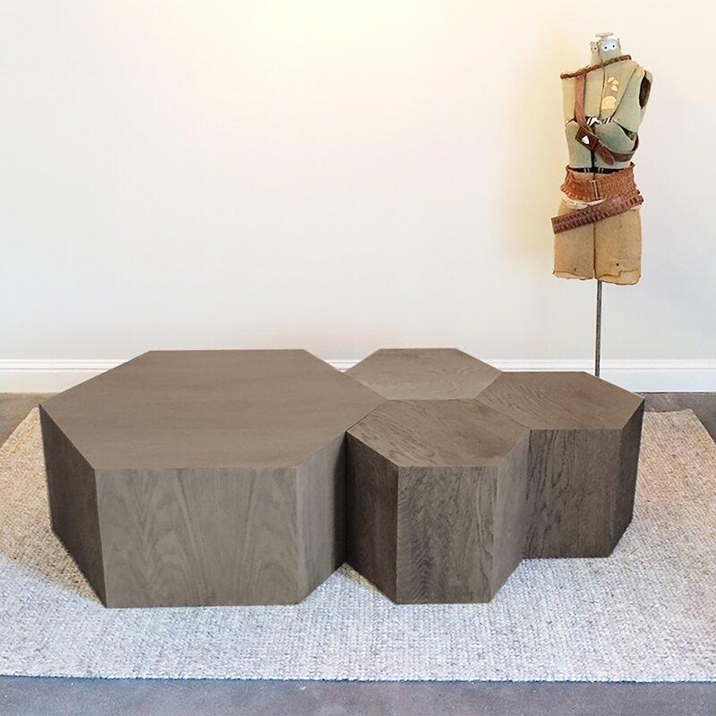 Hammers And Heels Solid Wood Block Coffee Table Wayfair