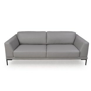 Orren Ellis Joachim Leather Sofa