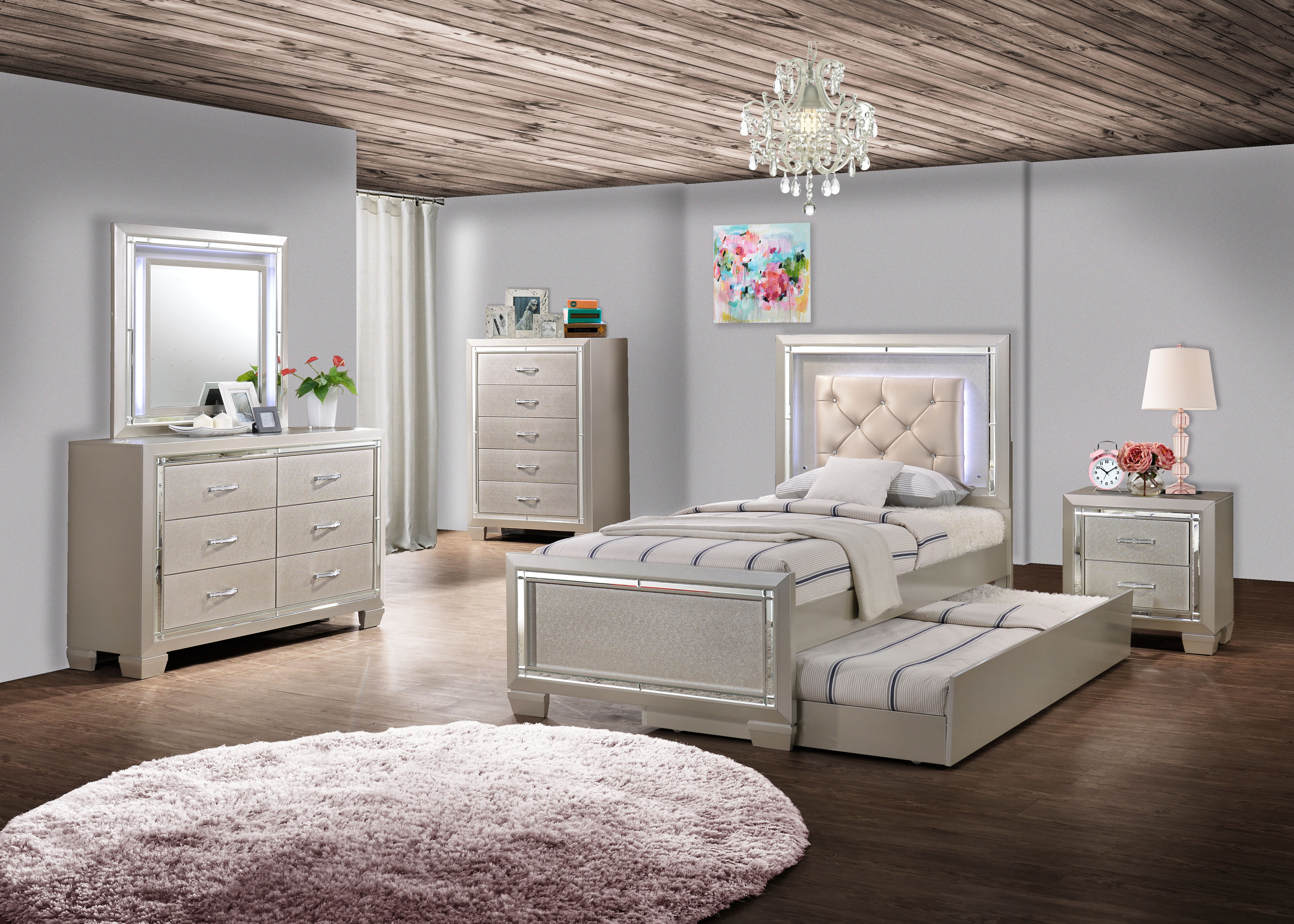 Torrez Panel Configurable Bedroom Set