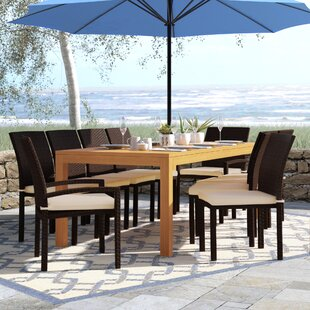 Arango 11 Piece Teak Dining Set by Beachcrest Home