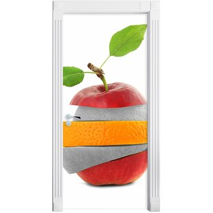 Mixed Fruit Apple Orange Lime Door Sticker By East Urban Home