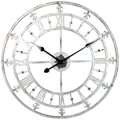 "Lark Manor Oversized 23.8"" Round Tower Wall Clock"