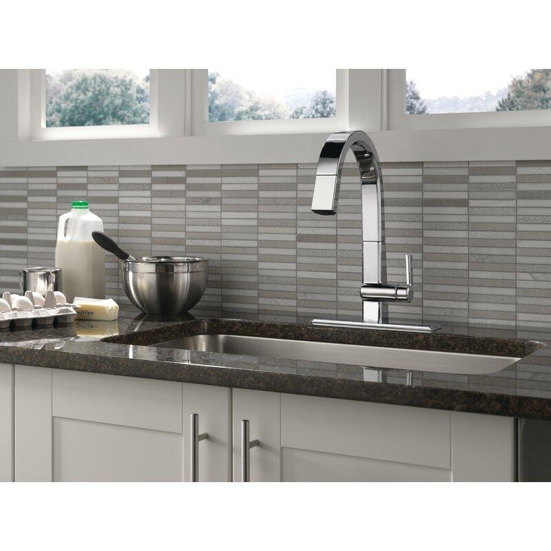 Delta Pivotal Pull Down Single Handle Kitchen Faucet Reviews Wayfair