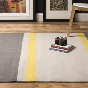 Marion Gray Striped Area Rug